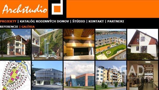 Webstránka Archstudio-d.sk