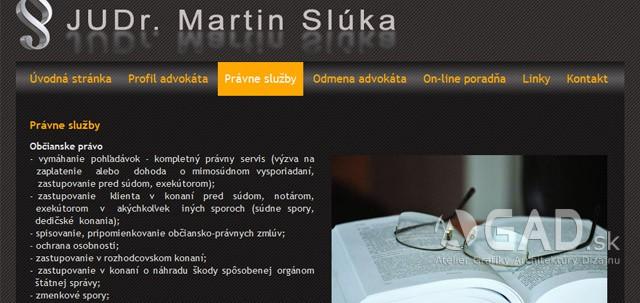 Webstránka Advokát-právnik-snv.sk