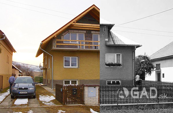 Rekonštrukcia krovu a podkrovia v rodinnom dome, Dúbrava, LM