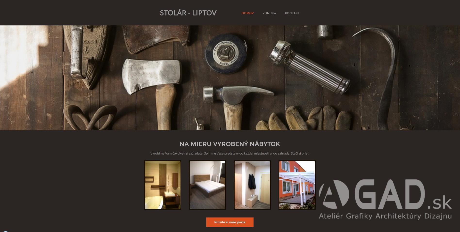 Webstránka STOLÁRSTVO-LIPTOV